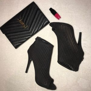 Chinese Laundry perforated peep toe Booties
